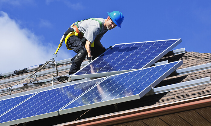 Dalton Plumbing, Heating, Cooling, Electric and Fireplaces, Inc. — Solar Power Installation