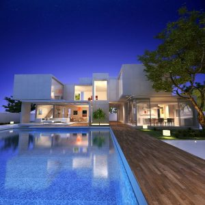 modern looking home