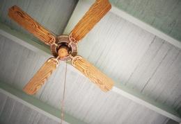 wooden ceiling fan